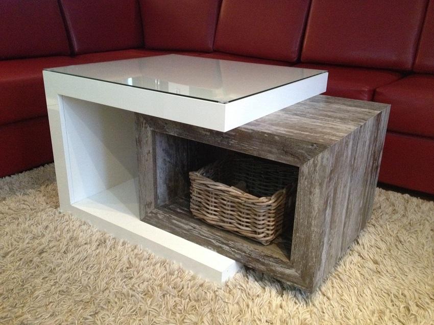 Amazing table de salon en mlamine with table en bois de grange for Grange du meuble