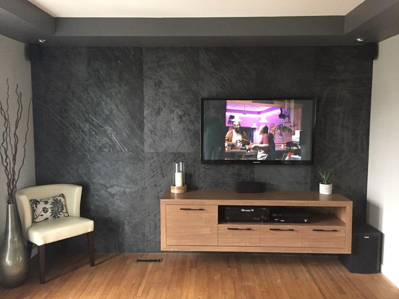 meuble tv effet bois - Meuble Tv Bois De Grange